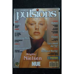 PULSIONS 01 NUMERO COLLECTOR ARNOLD SCHWARZENEGGER STING BRIGITTE NIELSEN NUE + POSTERS 1988