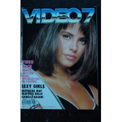 VIDEO 7 084 DECEMBRE 1988 COVER MATHILDA MAY PRINCE JACKSON Béatrice DALLE ADJANI + CAHIER EROTIC