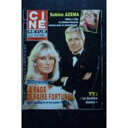 CINE REVUE 1984 N° 21 24 MAI 1984 COVER SOPHIE MARCEAU GERARD LANVIN MARCHE A L'OMBRE DIDIER PIRONI POSTER LINDA EVANS
