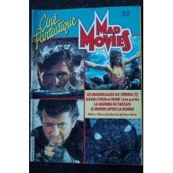 Ciné Fantastique MAD MOVIES n° 32 * 1984 * Maquillages David LYNCH DUNE La légende de Tarzan Rocky Horror picture show