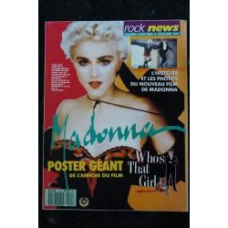 ROCK NEWS 1988 04 n° 25 COVER MADONNA 5 PAGES SABRINA + POSTERS MADONNA SAMANTHA FOX RENAUD SABRINA