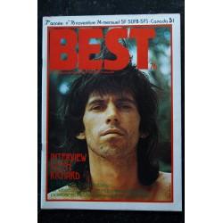 BEST 075 N° 75 octobre 1974 GENE VINCENT CROSBY STILLS Nash & Young suzi QUATRO SWEET