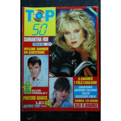 TOP 50 029 22 au 28 sept 1986 MODERN TALKING MYLENE FARMER SAMANTHA FOX + POSTER LIO PRESLEY 1986