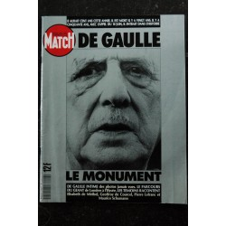 PARIS MATCH HS 2143 DE GAULLE Le Monument - De Gaulle Intime - Le parcours du géant - 1990
