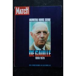 PARIS MATCH Numéro Hors-série DE GAULLE 1890 / 1970 Grand Format cartonné + Disque 33 tours