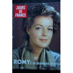 JOURS DE FRANCE 1431 Romy SCHNEIDER Cover + 6 p. - Kiraz - Faizant - Cannes - La mode Sport - 180 p. - 192 06