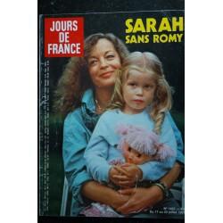 JOURS DE FRANCE 1437 Romy SCHNEIDER SARAH Cover + 6 p. - Serge Lama 4 p. - Thierry Le Luron 4 p. - 108 p. - 1982 07