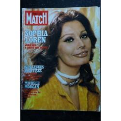 PARIS MATCH N° 1461 Sophia Loren Cover + 4 p. - Françoise Fabian - Mohamed Ali - Pierre Bellemare - 120 pages - 1977 05 27