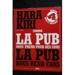 HARA KIRI LA PUB - Cavanna - 1960-1985- Editions Hoëbeke - 192 pages - 2009 10