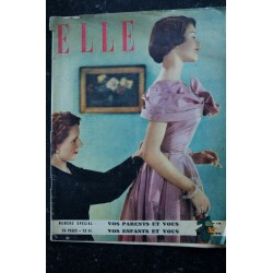 ELLE 179 1949 05 - TRES RARE - Brigitte BARDOT à quinze ans lorsqu'elle pose la première fois pour ELLE