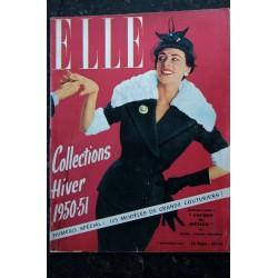 ELLE 249 4 sept. 1950 - Mode Bon Ton Jacques FATH - Collections Hiver 125 modéles - 56 pages FASHION VINTAGE