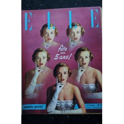 ELLE 249 13 nov. 1950 - Jupe de tulle blanc CARVEN - Danièle Delorme - Elle 5 ans - 56 pages FASHION VINTAGE