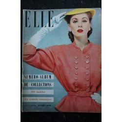 ELLE 275 5 mars 1951 - Tailleur Balenciaga - la mode frivolante - le shantung - 60 pages FASHION VINTAGE