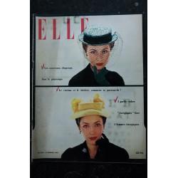 ELLE 323 4 fév. 1952 - Canotiers Paulette / Legroux - chapeau de bonne humeur - G-robe énergique - 52 pages FASHION VINTAGE