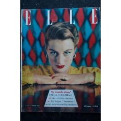 ELLE 324 11 fév. 1952 - Capucine en Véra Boréa - Praline / Mouloudji - Madame Butterfly - 60 pages FASHION VINTAGE