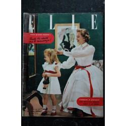 ELLE 344 30 juin 1952 - Monique de Préville en Virginie - B.Bardot Z. Jeanmaire L Caron - 60 pages FASHION VINTAGE