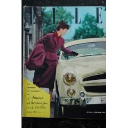 ELLE 358 6 oct 1952 - Tailleur Dior et Comète - Velours cotelé - Marinière express - 64 pages FASHION VINTAGE