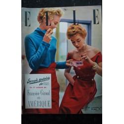 ELLE 362 3 nov. 1952 - Marjorie & Joan en Schiaparelli - Françoise Giroud en Amérique - 60 pages FASHION VINTAGE