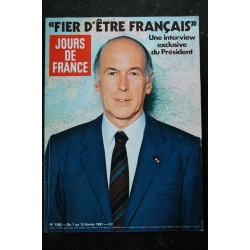 JOURS DE FRANCE 1362 7 au 13 fév. 1981 Valéry Giscard d'Estaing - Chantal Goya - Jean Rochefort Anny Duperrey