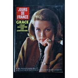 JOURS DE FRANCE 1454 13 au 19 nov. 1982 - Grace de Monaco 5 p. - Nathalie Baye et Johnny - Salvador - Jacques Tati