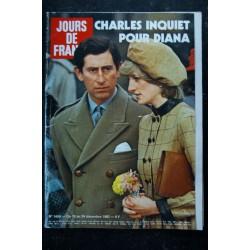 JOURS DE FRANCE 1459 18 au 24 déc. 1982 Charles & Diana Cover + 6 p. - Sophie Marceau P. Cosso - De Funes C. Goya Balavoine