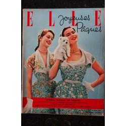ELLE 330 24 mars 1952 - Brigitte Bardot Cover - RARE - Dany Robin - Suzy Delair - 60 pages FASHION VINTAGE