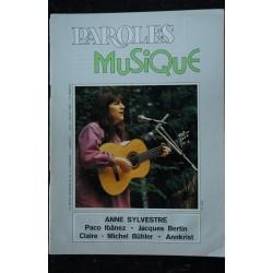 Paroles & Musique 1980 06 n° 1 Anne Sylvestre - Paco Ibãnez - Jacques Bertin ... 44 pages