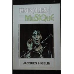 Paroles & Musique 1981 11 n° 14 JACQUES HIGELIN - la musique des adolescents - 44 pages