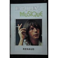 Paroles & Musique 1982 01 n° 16 RENAUD - Anne Vanderlove - 44 pages