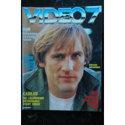 VIDEO 7 029 JANVIER 1984 COVER GERAD DEPARDIEU CORINNE CLERY HISTOIRE D'O F ARDANT BENAZERAF + CAHIER EROTIC