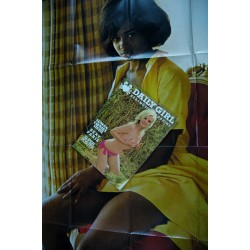 Daily Girl Vol. 2 n° 6 - 1970 - Sexy Paris - Carnaby Street - poster 140 x 80 - SEX - MOVIE - MAGAZINE type Playboy