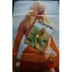 Daily Girl 1972 03 - Prague - Les messes noires - poster 80 x 54 - SEX - MOVIE - MAGAZINE type Playboy