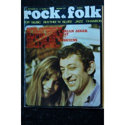 ROCK & FOLK 032 SEPTEMBRE 1969 COVER SERGE GAINSBOURG JANE BIRKIN + INTERVIEW ROLLING STONES CHUCK BERRY MORE FILM MAUDIT