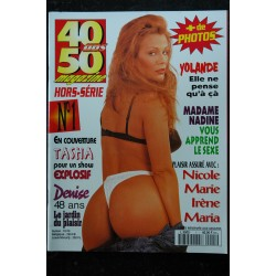 40 / 50 ans magazine L 9505 n° 1 - Tasha Denise Yolande Madame Nadine Nicole Marie - Fr - Nude Erotic Charme - 84 pages
