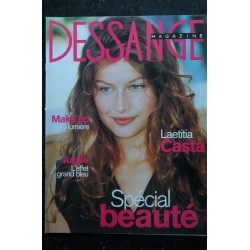 DESSANGE Magazine n° 1 janvier 2000 Laetitia Casta Cover + 2 p. - Virginie Ledoyen - Ophélie Winter - 68 pages