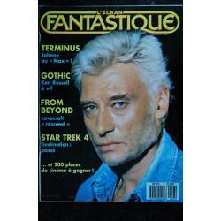 L'écran fantastique n° 77 * 1987 * COVER Johnny Hallyday TERMINUS GOTHIC Ken RUSSELL Star Tek 4