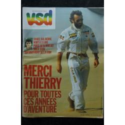 VSD 438 COVER DANIEL BALAVOINE THIERRY SABINE + SUPPLEMENT 40 PAGES COULEURS PARIS-DAKAR LES ANNEES SABINE 1986 01