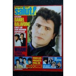 SALUT ! 269 JANVIER 1986 COVER TELEPHONE STALLONE ROCKY IV THE CURE SADE EN PRIVE + POSTERS RENAUD TINA TURNER INDOCHINE