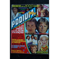 PODIUM HIT 79 SEPTEMBRE 1978 CLAUDE FRANCOIS LAURENT VOULZY SOUCHON BONEY.M + POSTERS SHEILA JOHNNY HALLYDAY