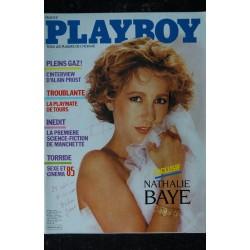 PLAYBOY 003 1985 NOVEMBRE COVER NATHALIE BAYE TORRIDE CINEMA 1985 INTERVIEW ALAIN PROST NATHALIE MALINE NUDES