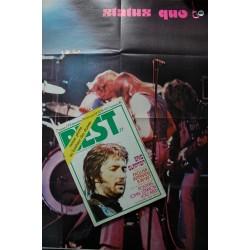 BEST 77 nov. 1974 - Eric Clapton - R. Wyatt - ( Pas de poster John Lennon - Lou Reed ) - Claude Nougaro