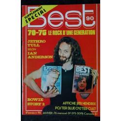 BEST 90 janvier 1976 Ian Anderson - Bruce Springsteen - Cat Stevens - Bowie - Jethro Tull