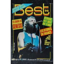BEST 96 juillet 1976 GENESIS Phil Collins - Rolling Stones - Bowie - Aerosmith - Patti Smith - Rod Stewart