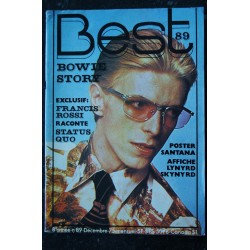 BEST 89 DECEMBRE 1975 COVER DAVID BOWIE STORY STATUS QUO ROXY MUSIC DICK RIVERS POSTER SANTANA LYNYRD SKYNYRD