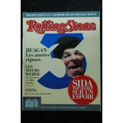 ROLLING STONE 002 N° 2 Wall Street Afghanistan La chute de la maison Europe 1 G. Michael JULY SCHIFRES CATON FOGEL De CAUNES