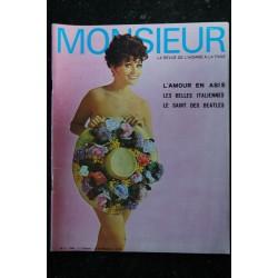 MONSIEUR 1969 1 La revue de l'homme à la page Pamela Tiffin Casanova Bogart ou Bogey Jill Saint John