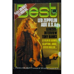 BEST 107 JUIN 1977 ANGE LOU REED TED NUGENT STATUS QUO BOB MARLEY
