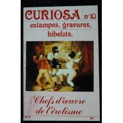 CURIOSA 09 N° 9 1982 Chefs d'oeuvre de l'érotisme estampes, gravures ,bibelots