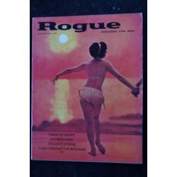 ROGUE Vol 6 N° 2 February 1961 EVAN HUNTER SIN AND SUBURBIA Miss Marjorie Friend Vintage Erotic
