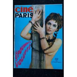 CINEPARIS 107/4 CLAUDIA CARDINALE ELIZABETH TAYLOR BARBARA OLGHETTI TOPLESS 1968